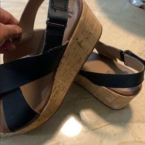 Clarks Shoes - Clark's cork wedge sandal